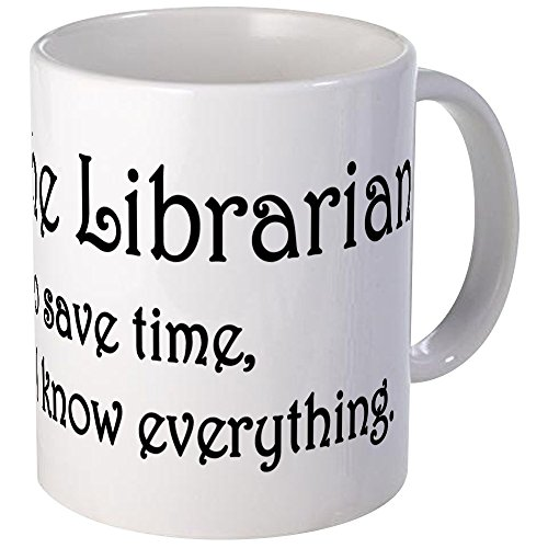 cafepress unique Tasse I Am The Bibliothécaire – S Blanc, Céramique, blanc, s