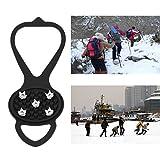 Spikes Raquetas de Nieve de Hielo Ghat-Antideslizante Botas Pinzas Crampón Paseo Grapas