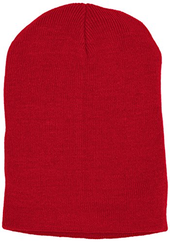 MSTRDS Beanie Basic Flap, Bonnet Homme, Taille Unique Rot (Red 3100)