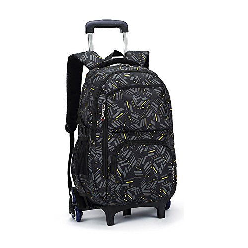 920b13d00a4c (A3) - Asdomo Rolling Laptop Backpack Luggage Wheeled Backpack Trolley  School Bags with Six Wheels for Boys Girls Kids Teenagers Students  Schooling ...