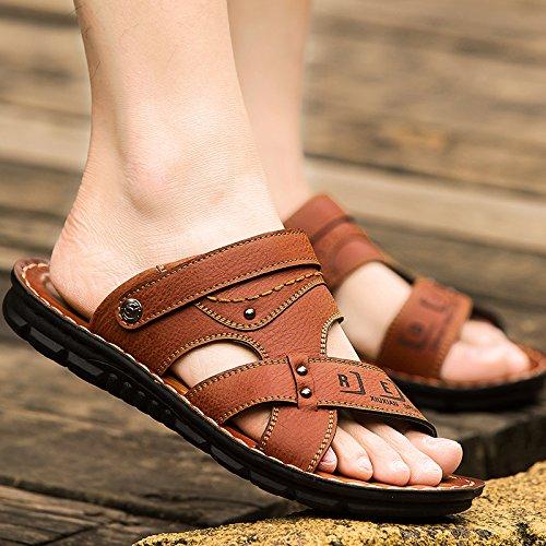 Xing Lin Sandali Estivi Sandali Uomini Marea Beach Scarpe Uomo Estate Ciabatte Sandali Uomo Nuovo Trend Uomo Sandali Traspirante Scarpe Da Uomo brown