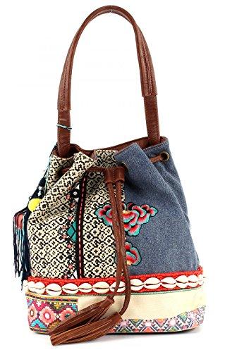 Desigual Bols Arosa Silvana Hand Bag Beuteltasche, Breite ca. 25 cm, Höhe ca. 35 cm, Tiefe ca. 10 cm, Berenjena