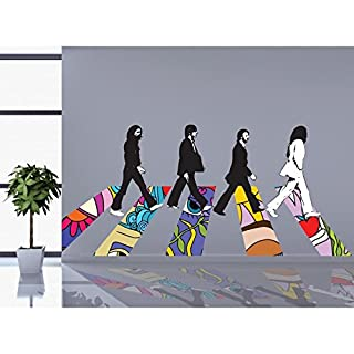 Adesiviamo® Beatles Walking Abbey Road Hippie Wall Sticker Vinyl Wall Stickers Decals