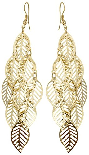 Karatcart Gold Plated Leaf Earrings for Girls  available at amazon for Rs.249