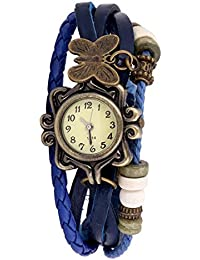Goldenize Fashion New Arrival Special Collection Butterfly Dori Festive Season Special Analog Dial Blue Leather...