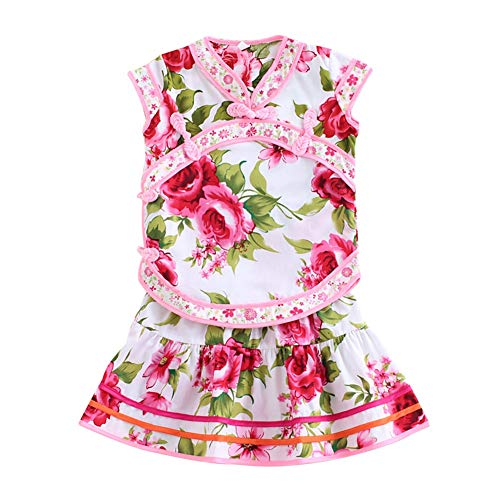 Blaward Baby Mädchen Kleidung Traditionelle Chinesische Kinder Sommer Cheongsam Anzug Outfits Tops Rock Set Tang Suit