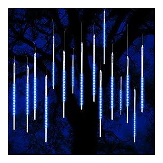 ohCome lluvia de meteoros lluvia gotas luces 50cm 10 tubos espirales 540 LED impermeable Icicle nevadas cadena luces para la boda de Navidad Navidad Halloween Garden Tree Home Decor