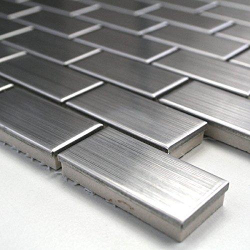 Mosaik Metall Edelstahl