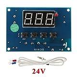 Exing Thermostat Temperaturregler, Programmierbarer Thermostat-Timer TRV Kühler Stellantrieb Temperaturregler (24v)