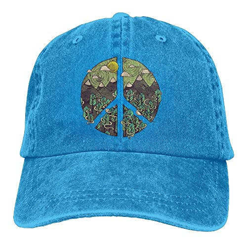 Nature Peace Sign Vintage Jeans Baseball Cap for Men and Women