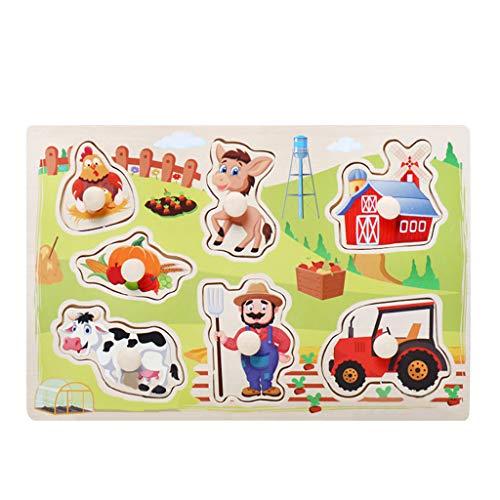 R-Cors Kinder Puzzle Griff Board Puzzle Geburtstagskind Mädchen Lernspielzeug Puzzle-Spielzeug für Kinder, Vier schwierigkeitstufen Lernspielzeug Spiel für Kinder 3 4 5 Jahren Alt - Puzzle Saw Jig Hund