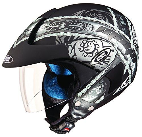 Studds Marshall D4 Open Face Helmet (Matt Black N4, L)