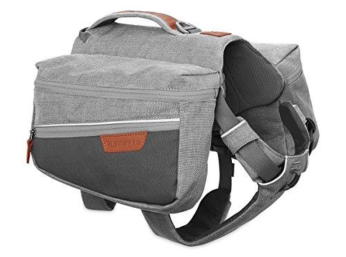 Ruffwear Hunde-Rucksack Zum täglichen Gebrauch, Mittelgroße Hunderassen, Größenverstellbar, Größe: M, Hellgrau (Cloudburst Grey), Commuter Pack, 5050-045M