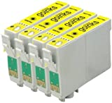 4 Compatible Yellow XL Printer Ink Cartridges to replace T1814 (18XL Series) for use in Epson Expression Home XP-102, XP-202, XP-205, XP-212, XP-215, XP-225, XP-30, XP-302, XP-305, XP-312, XP-315, XP-322, XP-325, XP-402, XP-405, XP-405WH, XP-412, XP-415, XP-422, XP-425