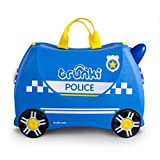 TRUNKI Ride-On Koffer befahrbarer Kindertrolley 46 cm, Percy Police