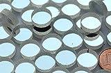15 Stück Spiegelmosaik rund 12mm silber Stärke 4-5 mm,ca.18g