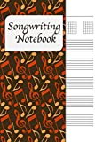 Songwriting Notebook: Lyrics Journal , Cornell Notes and Staff Paper with room for Guitar Chords, Lyrics and Music. Songwriting Journal for Musicians, Students , Lyricists. Rusty Colored Notes