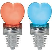 Cuore tappo per bottiglia con LED–Bottle Top