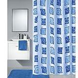 OBI Duschvorhang Sealife 180 cm x 200 cm Blau