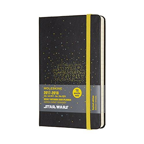Moleskine 2017-2018 Agenda Settimanale con Spazio per Note, 18 Mesi, Tascabile, Star Wars Logo