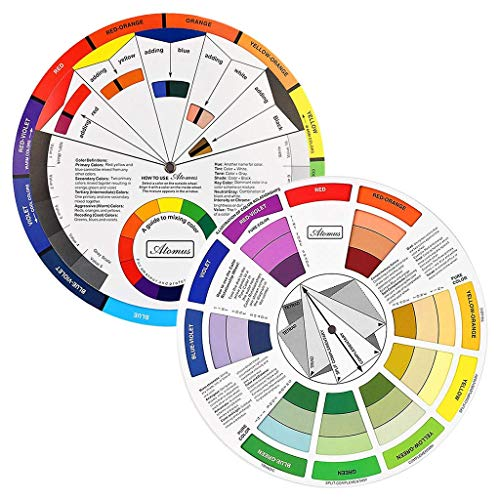 or Wheel, Paint Mixing Learning Guide Art Class Teaching Tool for Makeup Blending Board Chart Color Mixed Guide Mix Colours ()