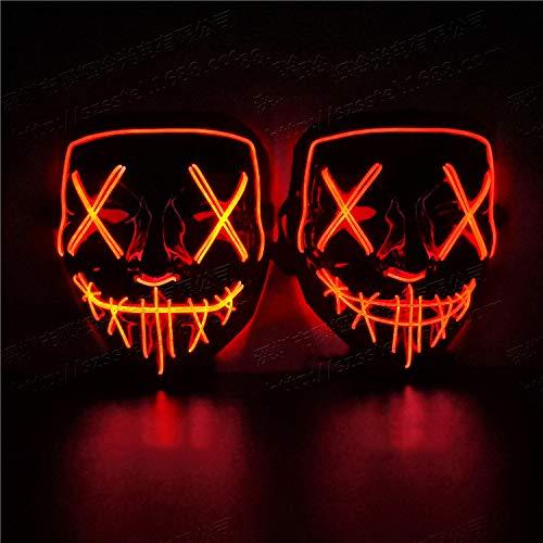 YWJ Halloween Maske LED leuchtet Maske für Halloween Festival Halloween Kostüm Rave und Cosplay,2