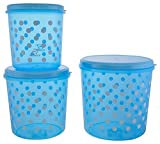 #3: Ranka Plastic Storage Containers, 3-Piece,*Colors and desings may vary as per availability
