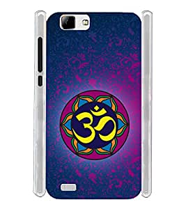 Om Religious Soft Silicon Rubberized Back Case Cover for Vivo V1