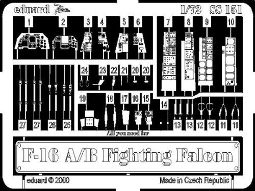 Eduard Accessories SS15130502000F de 16a/b Fighting Falcon