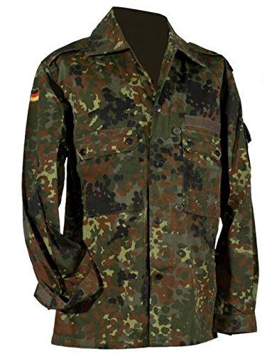 Langärmlige Feldbluse der Deutschen in Importqualität Farbe Flecktarn oder Tropentarn Größen S-XXXL (XL, Flecktarn) (Jagd-shirt Moleskin)