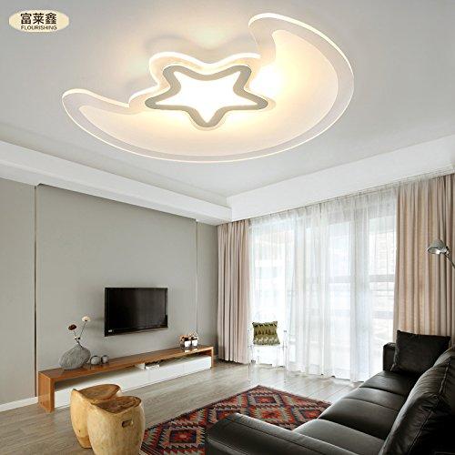 Creativo semplice moda luna LED ultra-sottile e il soffitto stelle soffitto camera da letto soggiorno acrilico Ferro 20-30W potere , yellow light , 30w 600mm