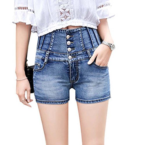 Brawdress Einfache Fashion Women Denim Shorts High Taille elastische Bandage Korean Ladies Girls locker Jeans Tight Shorts Plus size (31) (Denim-shorts Tights)