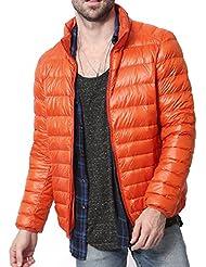 Hombres Caliente Encapuchado de la Abrigo Collar del Soporte de peso Ligero Empacable