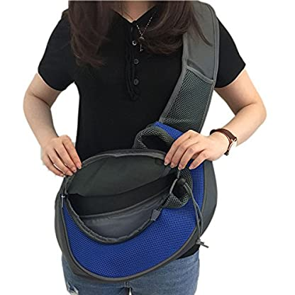 Wiiguda@Pet Sling Carrier Adjustable Shoulder Bag for Dogs Cats Travel Carrier Hand-free with Extra Bag for Pets M(2.5… 5