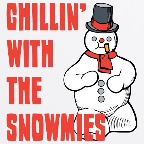 Snowmies T-Shirt, Herren Wei
