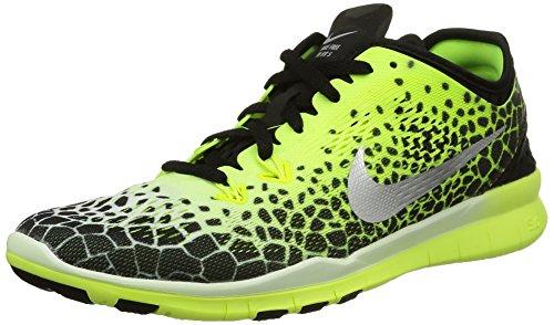Nike - Wmns Nke Free 5.0 Tr Fit 5 Prt - , homme, multicolore (black/mtllc slvr-pnk pw-white), taille 36 multicolore (Black/Mtllc Silver-Vlt-White)