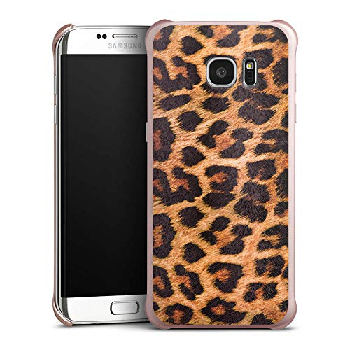 DeinDesign Hülle kompatibel mit Samsung Galaxy S7 Edge Handyhülle Case Leopard Pattern Muster Leopard Cover