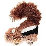 GiGwi 6259 Robustes Hundespielzeug Plush Friendz Streifenhörnchen ohne Füllung, mit doppelter Gewebelage und Quietscher, aus Plüsch - 2