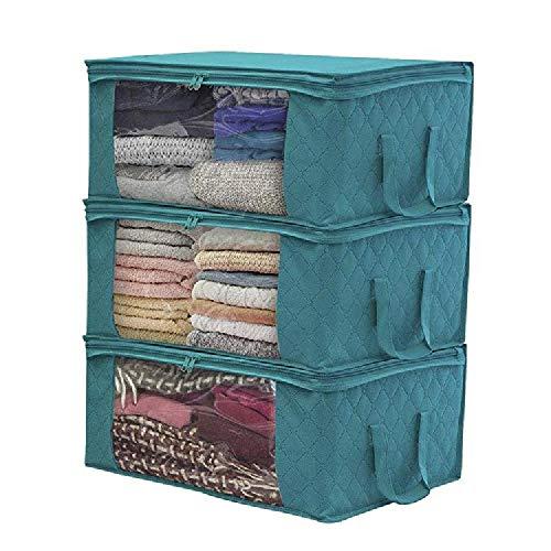 Unbekannt Non-Woven Faltbox Quilt Aufbewahrungstasche Kleiderschrank Kleiderschrank Finishing Box staubdicht