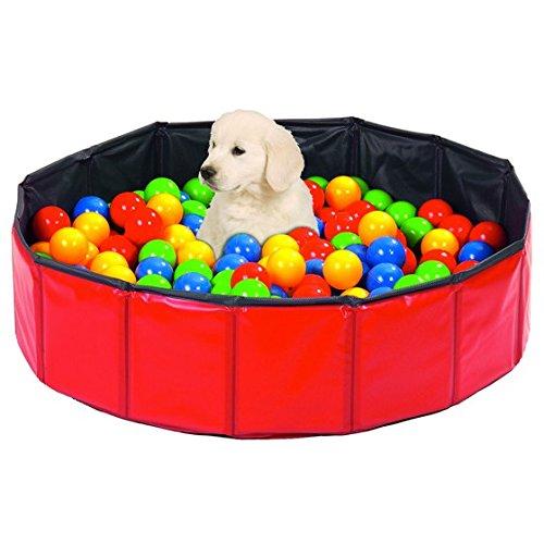 Karlie Hundepool und Bällebad - Hundespielplatz/Wellpenspielplatz - Grösse 120 cm - Bällebad Für Hunde