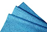 #9: Kimtech Lint free Multipurpose Wiping Cloth, Reusable, Large Size, 23.7 x 38.1 cm, Pack of 25, Blue, 60023 by Kimberly-Clark