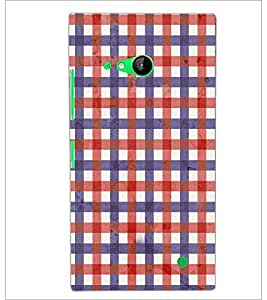 PrintDhaba Pattern D-3695 Back Case Cover for NOKIA LUMIA 730 (Multi-Coloured)