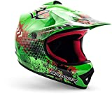 "ARMOR · AKC-49 ""Green"" (Grün) · Kinder-Cross Helm · Enduro Motorrad Kinder Off-Road Sport Moto-Cross · DOT certified · Click-n-Secure™ Clip · Tragetasche · S (53-54cm)"
