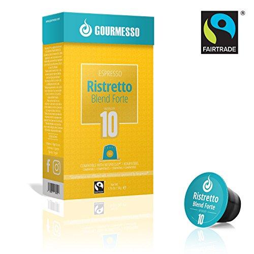 Gourmesso Ristretto Blend Forte - 100 Nespresso kompatible Kaffeekapseln - Fairtrade