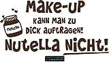 CLICKANDPRINT  Aufkleber » Nutella, 20x10,1cm, Braun • Dekoaufkleber/Autoaufkleber/Sticker/Decal/Vinyl