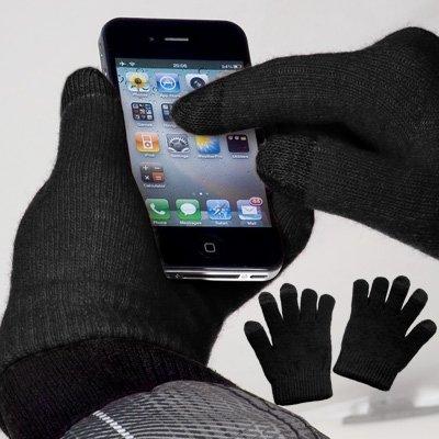 yayago Touchscreen Handschuhe Schwarz Universalgröße (ca. S – M) – Für Base Lutea 2 ZTE Skate U960 und viele weitere Modelle