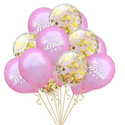 Bumen 15 Stück 12 Zoll Rose Gold Konfetti Ballon Premium Latex Glitter Ballons für Hochzeit und Geburtstag,Graduierung,Vorschlag, Weihnachten, Brautgeschenke, Baby-Duschen, Valentinstag Latex Ballons