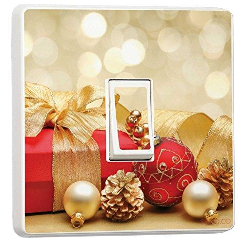 Weihnachten Deko–Single Lichtschalter Vinyl Aufkleber–Winter Weihnachts Feiertage Christmas Presents - Single Lichtschalter