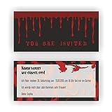 Einladung zum Geburtstag Motto Halloween I Einladungskarten (30 Stück)