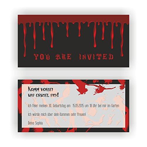 Einladung zum Geburtstag Motto Halloween I Einladungskarten (70 Stück)